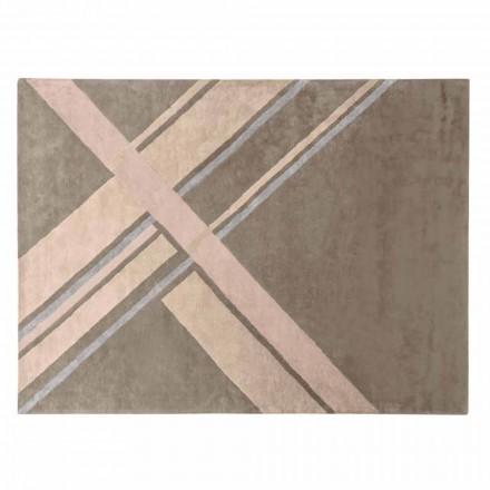 Obývací pokoj koberec z vlny, bavlny a viskózy, luxusní Made in Italy - Rick