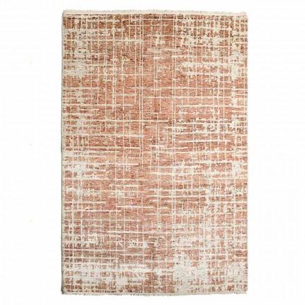 Moderní ručně tkaný koberec do obývacího pokoje z vlny a bavlny - Neppo