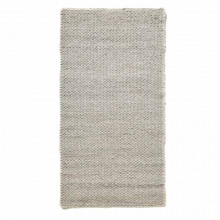 Moderní ručně tkaný koberec do obývacího pokoje z polyesteru a bavlny - tabatha
