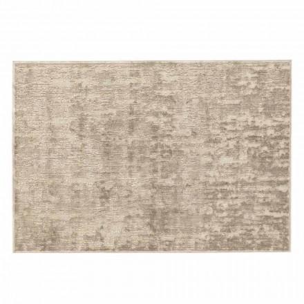 Obdélníkový obývací pokoj koberec ze 100% viskózy, drahý vyrobený v Itálii - tygr