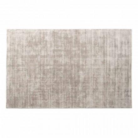 Obdélníkový koberec do obývacího pokoje z viskózy, vysoce kvalitní Made in Italy - Stephan