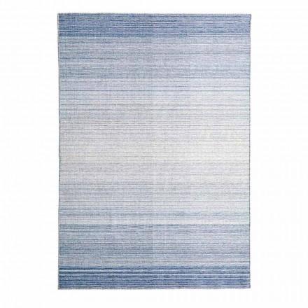 Obdélníkový koberec do obývacího pokoje ručně tkaný z polyesteru a bavlny - Zonte