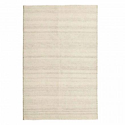 Ručně tkaný koberec do obývacího pokoje v moderním designu z vlny a bavlny - nýt