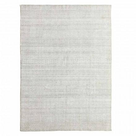 Moderní designový koberec z vlny, viskózy a bavlny - liolla