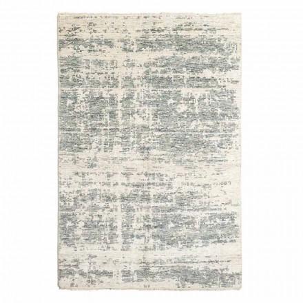 Ručně tkaný designový koberec z vlny a bavlny do obývacího pokoje - měď
