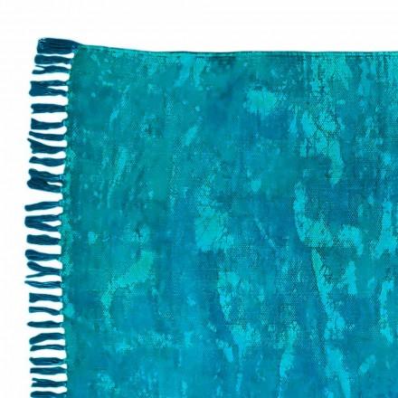 Etnický barevný obdélníkový koberec se střapci - Fibraù