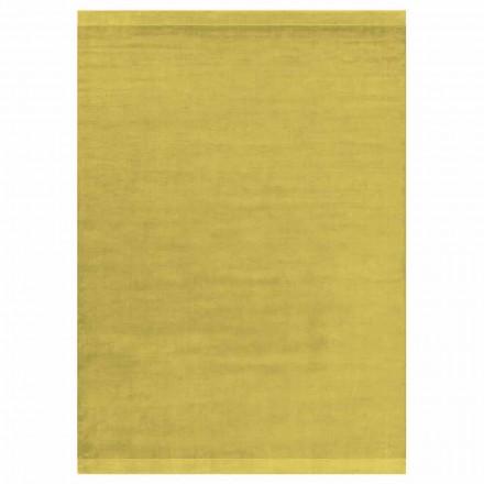Moderní design Barevný a velký koberec v hedvábí a vlně s páskou - směs
