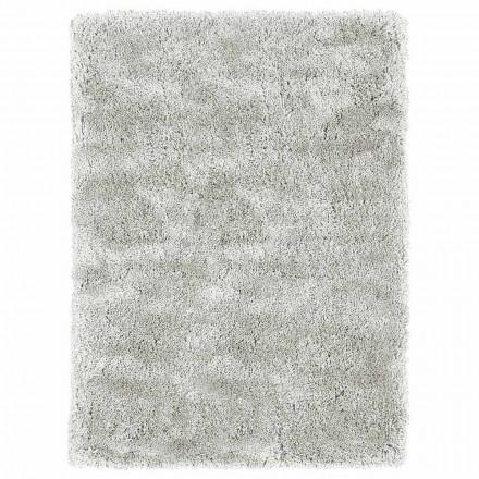 Moderní design Velký dlouhosrstý koberec v barevném hedvábí a bavlně - Etesia