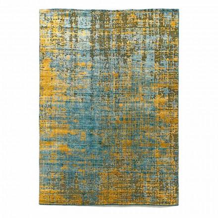 Moderní ručně vázaný koberec do obývacího pokoje z bambusového hedvábí a bavlny - Buba
