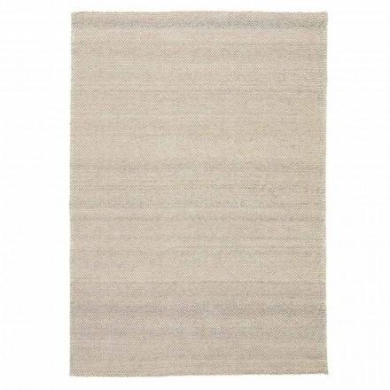 Moderní ručně tkaný polyesterový a bavlněný koberec do obývacího pokoje - Soledad