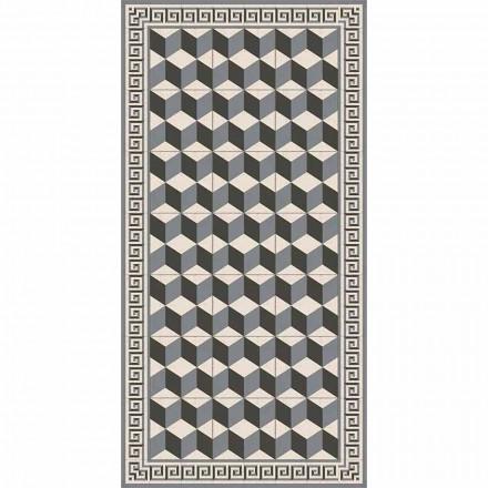 Moderní obývací pokoj koberec v Pvc a polyesteru s geometrickým vzorem - Romio