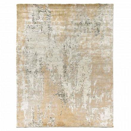 Moderní designový elegantní koberec do obývacího pokoje z bambusového hedvábí a vlny - paša