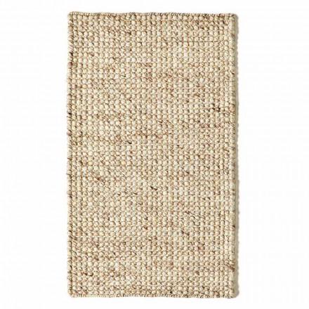 Moderní ručně tkaný vlněný a bavlněný koberec do obývacího pokoje - vrak