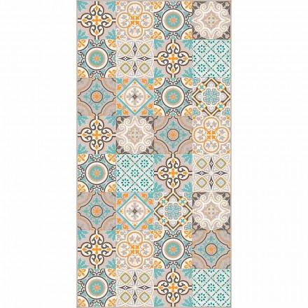 Moderní obdélníkový a barevný vinylový koberec do obývacího pokoje - Frisca