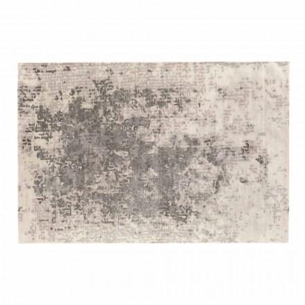 Luxusní obdélníkový koberec do obývacího pokoje z vlny, bavlny a viskózy vyrobený v Itálii