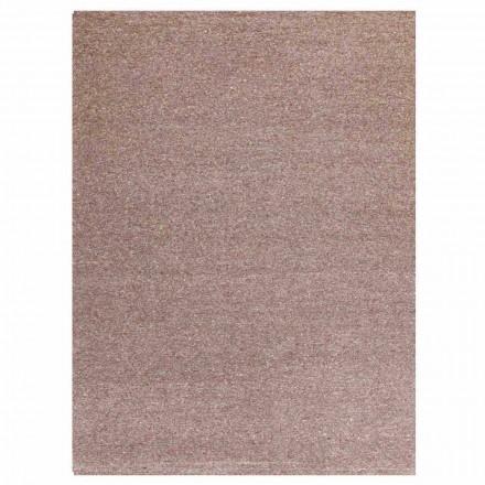 Moderní design obdélníkového koberce z hedvábí a hnědé nebo krémové bavlny - Kuta