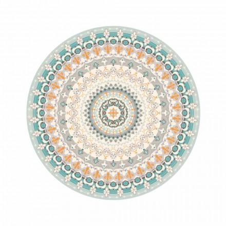 Moderní kulatý vzorovaný vinylový koberec do kuchyně - Rondeo