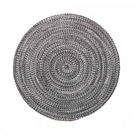 Moderní kulatý koberec do obývacího pokoje z ručně tkané bavlny - Redondo