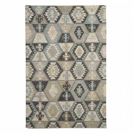 Moderní designový koberec z vlny a bavlny do obývacího pokoje - Ratta