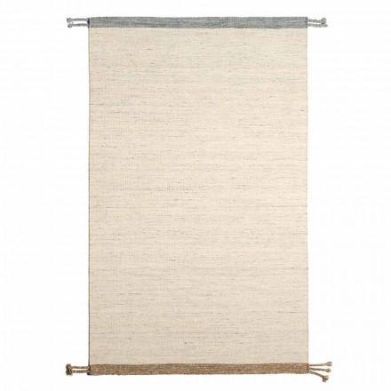 Obdélníkový koberec do obývacího pokoje z vlny a bavlny Všestranný a moderní design - Dimma