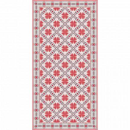 Designový koberec do obývacího pokoje v pravoúhlém vinylovém vzoru - Petúnie