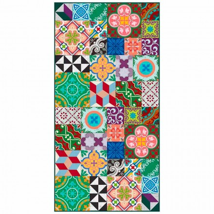 Moderní obývací pokoj koberec ve vinylu s barevné fantazie - Timio