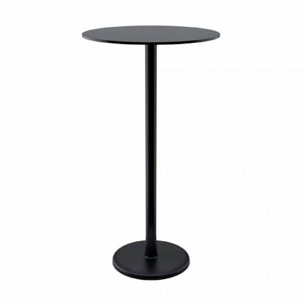 Vysoký venkovní stůl z litiny a HPL vyrobené v Itálii - Chester