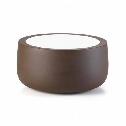 Nízký designový venkovní konferenční stolek z HPL a polyethylenu vyrobený v Itálii - Belida