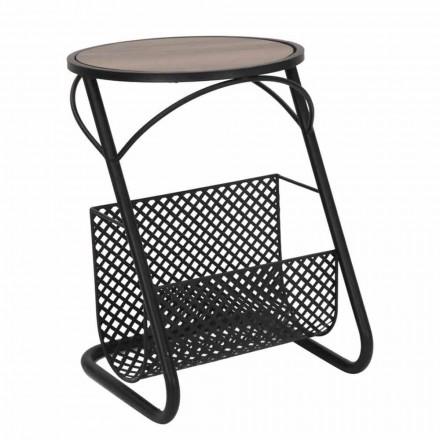 Moderní konferenční stolek do obývacího pokoje Novinový stojan v MDF a Iron - Trevor