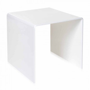 Bílá tabulka 50x50cm Terry Big moderní design, vyrobeno v Itálii