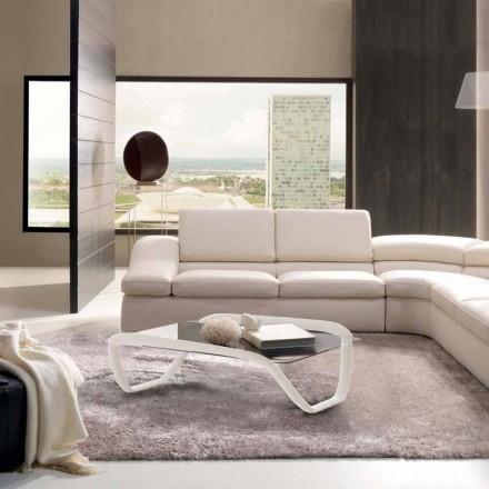 Moderní designový skleněný stolek a Solid Surface Continuum
