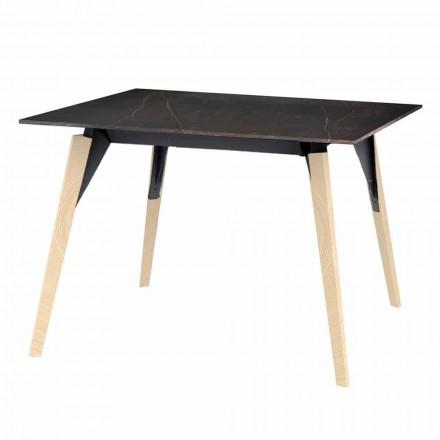 Konferenční stolek ze dřeva a mramoru, 3 barvy, 2 velikosti - dřevo Faz od Vondom