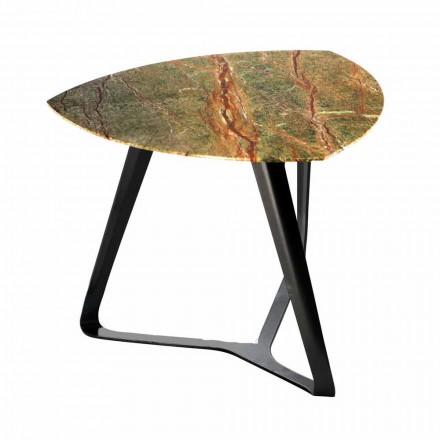 Ručně vyrobený konferenční stolek s luxusní mramorovou deskou vyrobené v Itálii - Royal