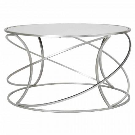 Nízký konferenční stolek pro obývací pokoj v železo a moderní zrcadlo - Corine