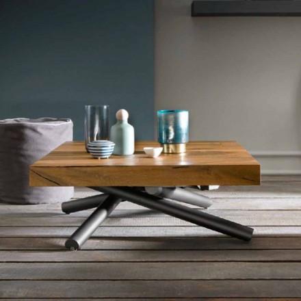 Transformace konferenčního stolku designu ze dřeva vyrobeného v Itálii - Vincenzo