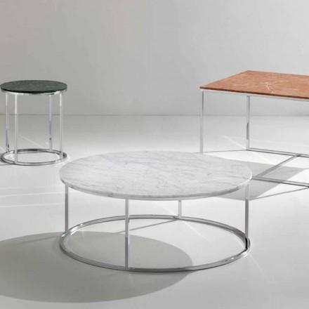 Konferenční stolek z bílého mramoru Carrara, moderní design, Zeus