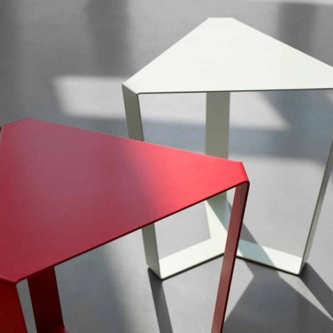 Konferenční stolek z barevného kovu moderního italského designu - Yasmine