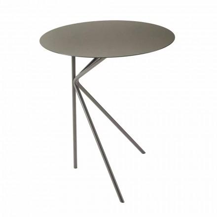 Kulatý kovový konferenční stolek, design v různých barvách a 2 velikostech - Olesya