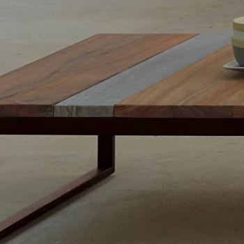 Casilda Talenti dřevěná a nerezová venkovní stolka 70x140cm