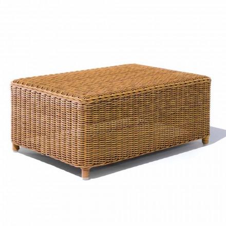 Zahradní konferenční stolek z tkaného syntetického ratanu - Yves