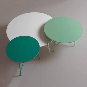 Barevný moderní konferenční stolek s kulatým designem do obývacího pokoje - Boogie