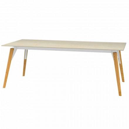 Konferenční stolek s mramorovým efektem, 3 barvy, 2 velikosti - dřevo Faz od Vondom