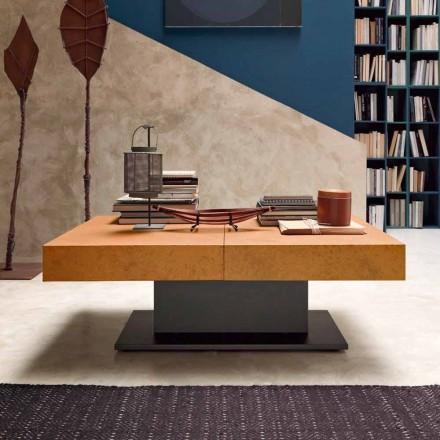 Konferenční stolek Transformer s efektem malty Top vyrobený v Itálii - romantický