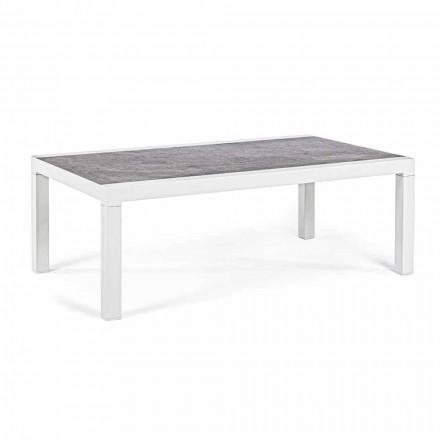 Venkovní konferenční stolek s keramickou deskou a hliníkovou strukturou - Softy