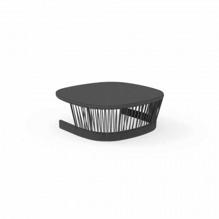 Venkovní stolek od firmy Talenti ve šňůře a hliníku, design od Palomby