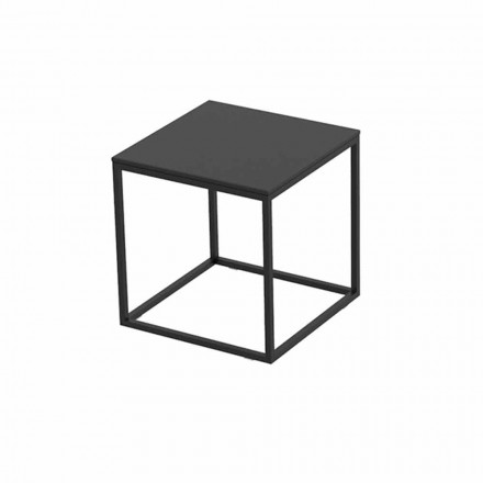 Venkovní konferenční stolek z hliníku a hranatého černého laminátu - Suave od Vondom