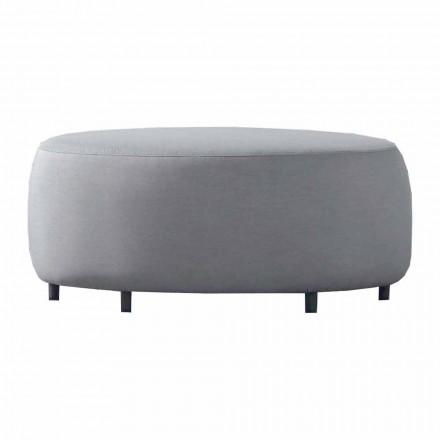 Venkovní konferenční stolek v šedé látce s hliníkovou strukturou - Orosei