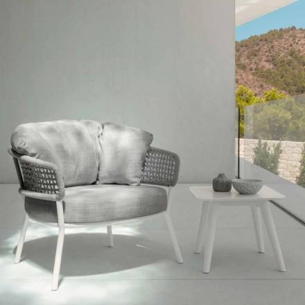 Venkovní stůl Alu od firmy Talenti, 40x40 s porcelánovým kameninem