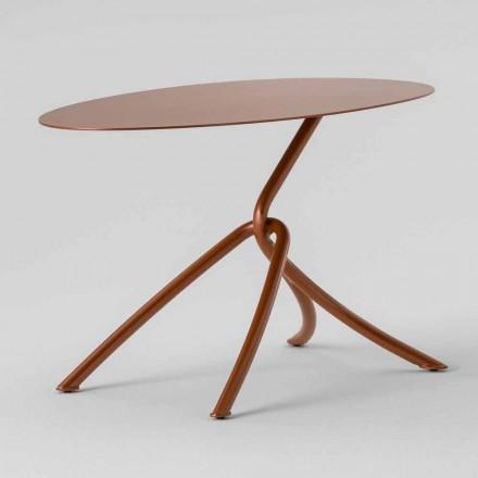 Vzácný venkovní konferenční stolek z lakovaného kovu vyrobený v Itálii - Lubeck