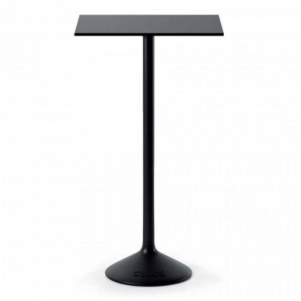 Vysoký čtvercový venkovní stůl v litém kovovém HPL Made in Italy - Crispian